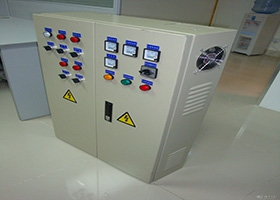 Electric cabinet with powder